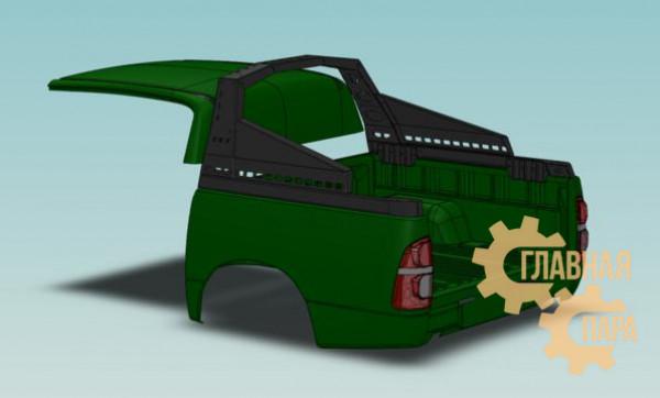 Дуга безопасности многофункциональная KDT для Toyota Hilux
