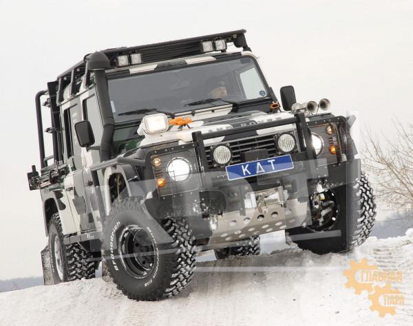 Алюминиевый передний силовой бампер KDT для Land Rover Defender 90/110