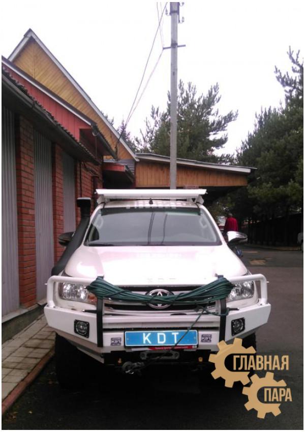 Алюминиевый передний силовой бампер KDT для Toyota Hilux 2015+