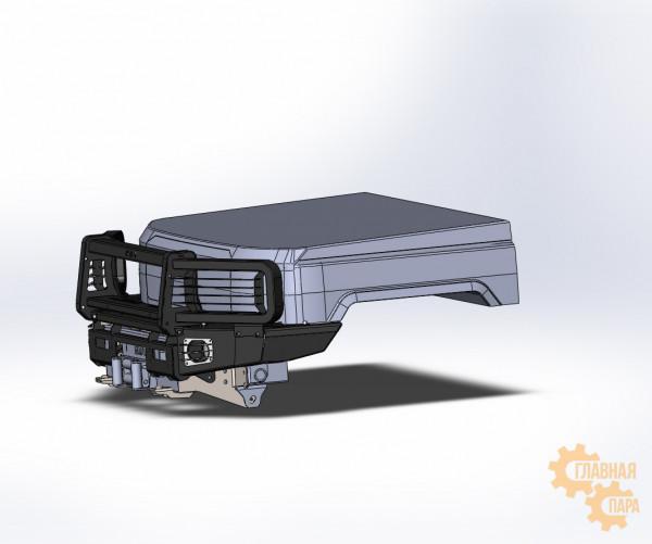 Алюминиевый передний силовой бампер KDT для Toyota Land Cruiser 70