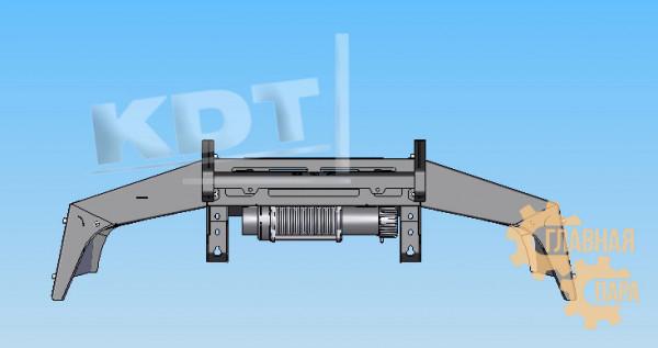 Алюминиевый передний силовой бампер KDT для Toyota Land Cruiser 80