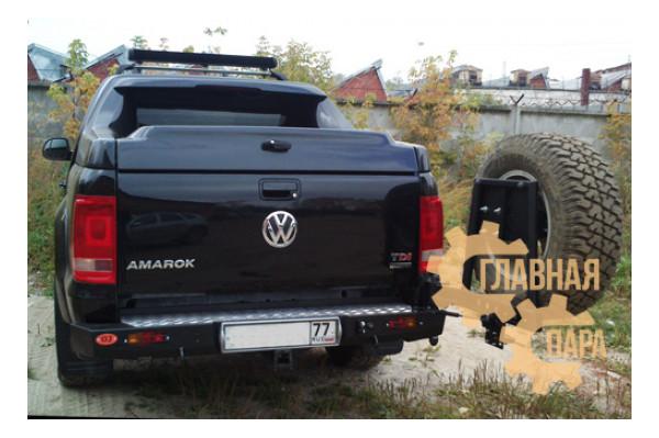 Задний силовой бампер OJ 03.135.12 для Volkswagen Amarok с калиткой