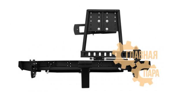 Задний силовой бампер OJ 03.105.02 для Нивы с квадратом под фаркоп и калиткой
