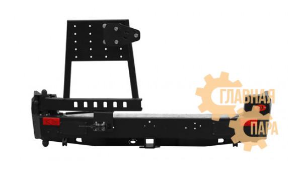 Задний силовой бампер OJ 03.400.02 на TAGAZ Road Partner 2008-2013 с левой калиткой стандарт, лифт 40 и 50 мм
