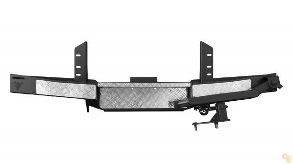 Задний силовой бампер OJ 03.101.24 для УАЗ Буханка с калиткой под запаску