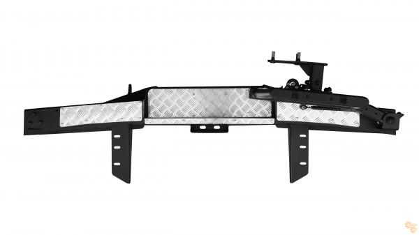 Задний силовой бампер OJ 03.102.23 для УАЗ Буханка с калиткой под запаску