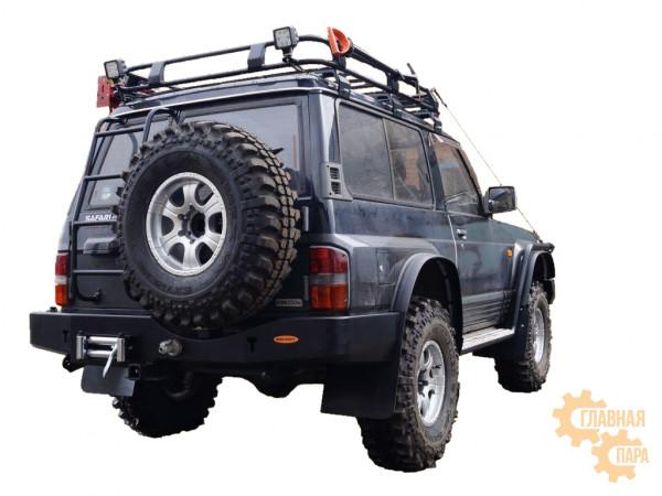 Задний силовой бампер Вездеходофф на Nissan Safari Y60