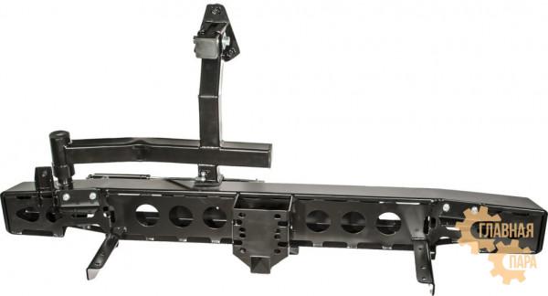 Бампер силовой задний РИФ RIF469 на УАЗ Хантер с квадратом под фаркоп и калиткой