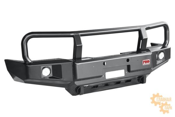 Бампер силовой передний РИФ для Toyota Hilux 1983-1997 с доп. фарами и защитной дугой