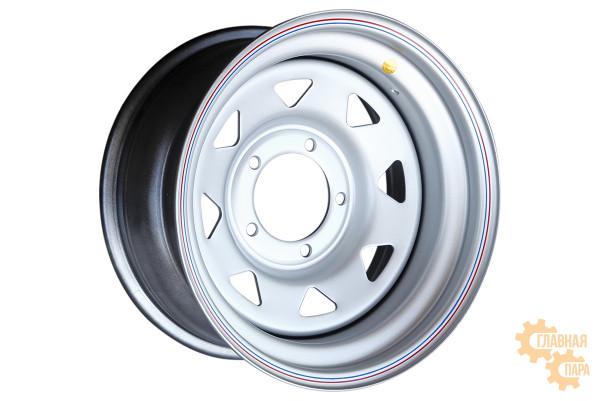 Диск усиленный УАЗ стальной серебристый 5x139,7 8xR16 d110 ET-19 (треугольник мелкий)
