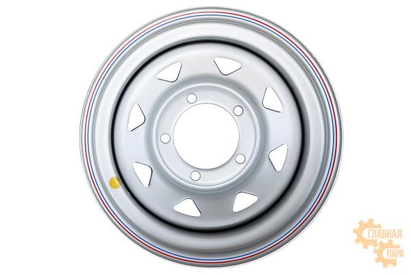 Диск усиленный УАЗ стальной серебристый 5x139,7 8xR15 d110 ET-19 (треугольник мелкий)