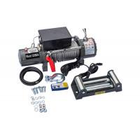 Лебедка электрическая 12V Electric Winch 12000lbs / 5443 кг со стальным тросом