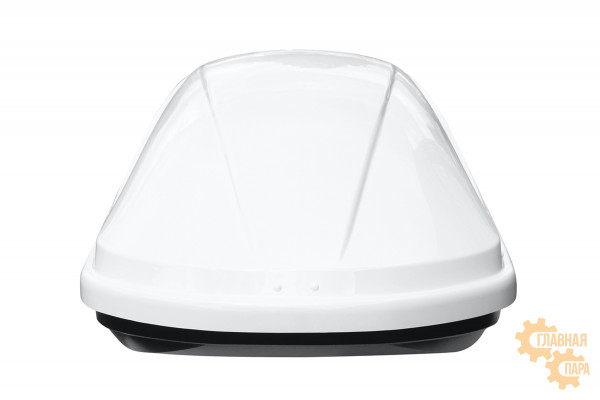 Бокс на крышу РИФ Динамик 450 л белый глянец, двухсторонний