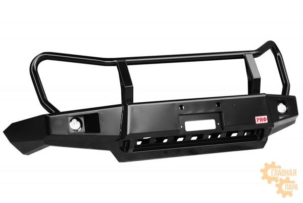 Бампер силовой передний РИФ для ГАЗ Соболь с доп. фарами и защитной дугой стандарт