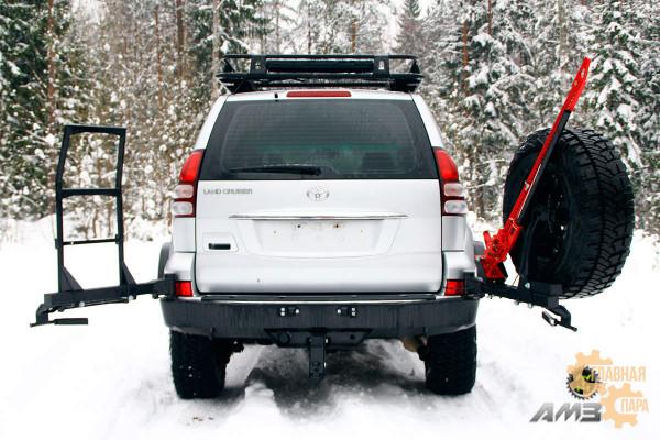 Задний силовой бампер АМЗ на Toyota Land Cruiser 120