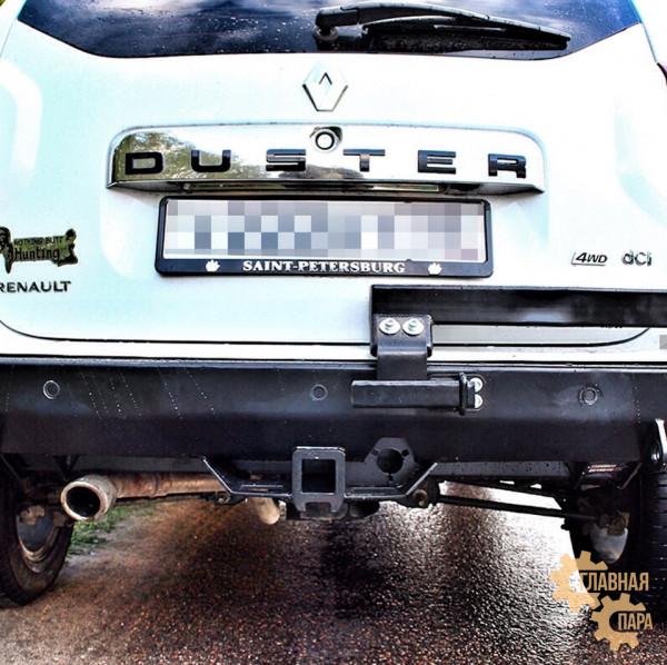 Задний силовой бампер АМЗ на Renault Duster