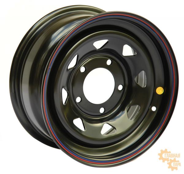 Диск усиленный УАЗ стальной черный 5x139,7 7xR16 d110 ET0 (треугольник мелкий)
