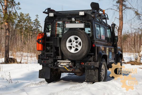 Задний силовой бампер OJ 03.112.02 для Land Rover Defender 90/110 с калиткой