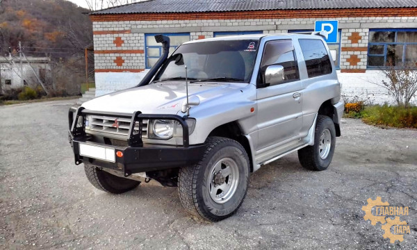 Бампер передний силовой OJ 02.130.01 на Mitsubishi Pajero 2 1991-1999 с кенгурином