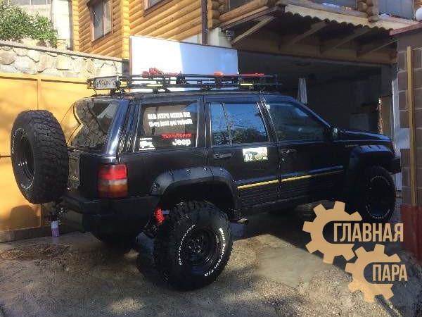 Задний силовой бампер АМЗ на Jeep Grand Cherokee I 1991-1996