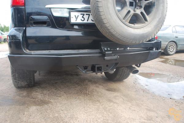 Задний силовой бампер АМЗ на Lexus GX470