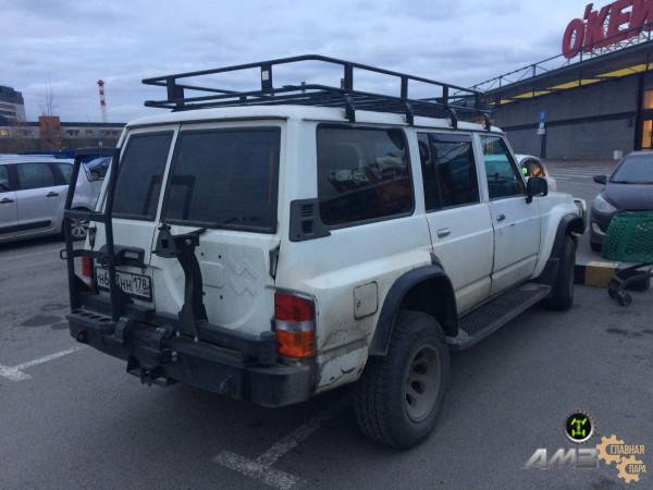 Задний силовой бампер АМЗ на Nissan Patrol Y60