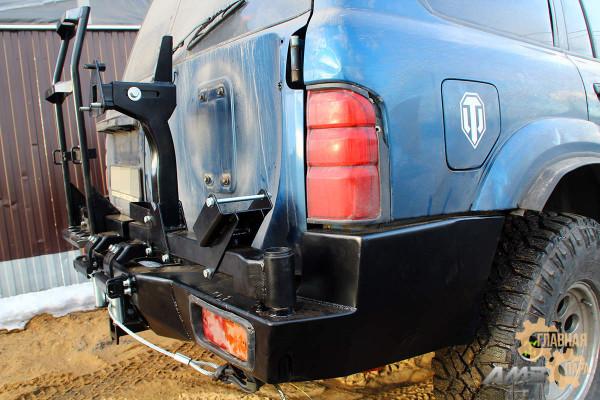Задний силовой бампер АМЗ на Nissan Patrol Y61
