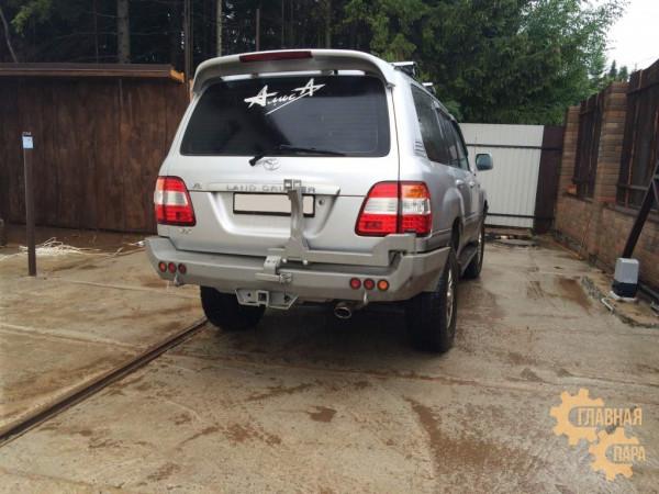 Задний силовой бампер АМЗ на Toyota Land Cruiser 100
