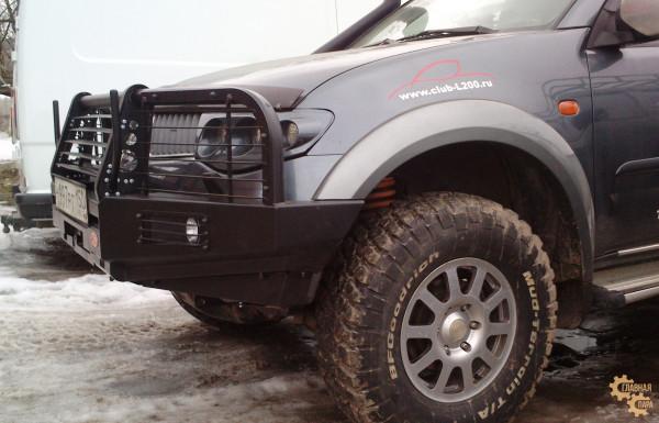 Бампер передний силовой OJ 02.120.01 для Mitsubishi L200 2005-2015 / Pajero Sport 2