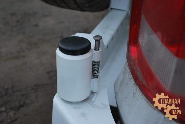 Задний силовой бампер АМЗ на Volkswagen Amarok
