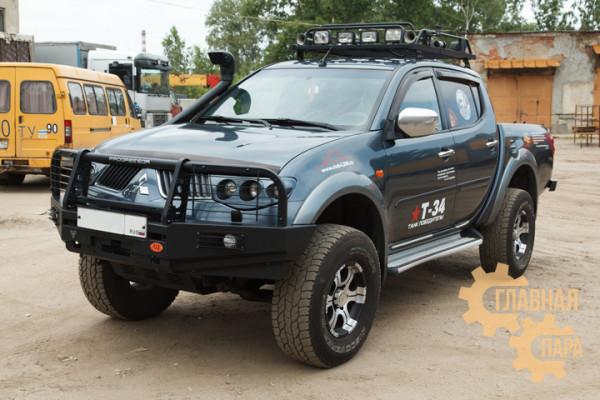 Бампер передний силовой OJ 02.120.13 Mitsubishi L200 2005-2015 / Pajero Sport 2 + доп. опции