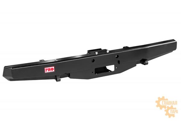 Бампер силовой задний РИФ для УАЗ Буханка с площадкой под лебедку, стандарт