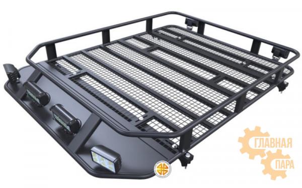 Багажник экспедиционный Б108.05 для KIA Sorento 2002-2009 (1650х1150х120 мм) с сеткой и креплениями на рейлинги