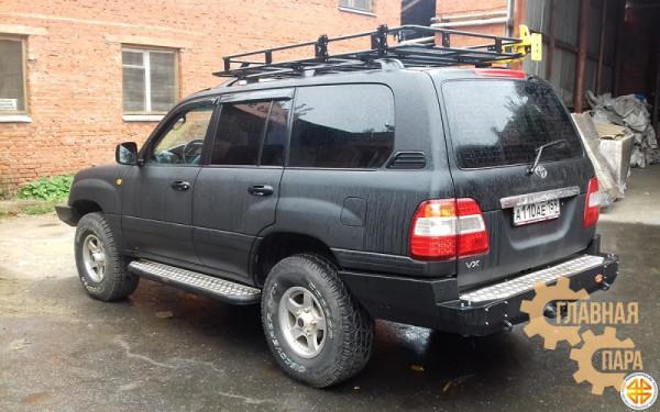 Багажник экспедиционный Б133.05 на Toyota Land Cruiser 100 (2100х1200х120) с сеткой и креплениями