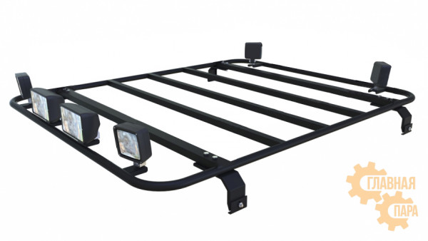 Багажная платформа Б91.02 на УАЗ Патриот Пикап 1400х1200х120 с креплениями на водостоки