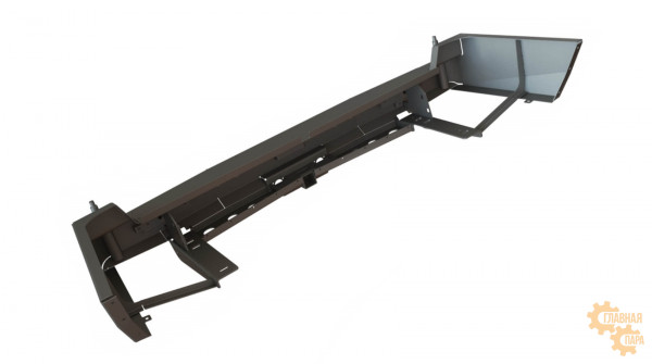 Задний силовой бампер STC для Toyota Land Cruiser 105 с квадратом под фаркоп и фонарями