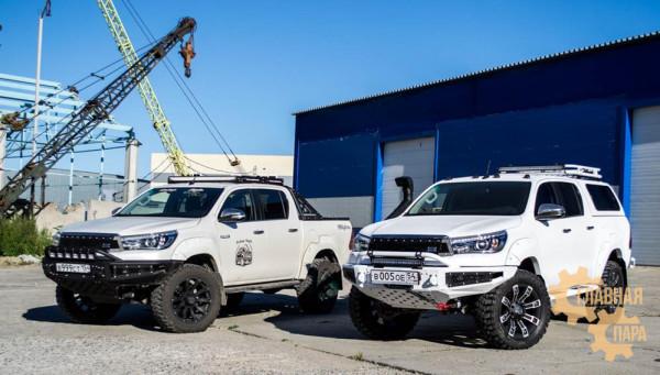 Бампер силовой передний BMS ALFA для Тойота Хайлюкс Рево 2015-2020