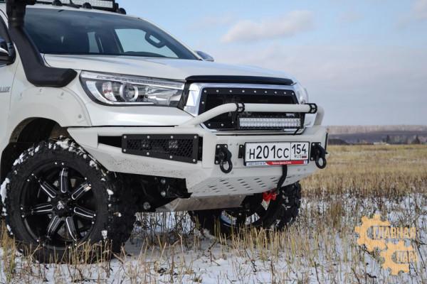 Бампер силовой передний BMS ALFA для Тойота Хайлюкс Рево Эксклюзив 2018-2020