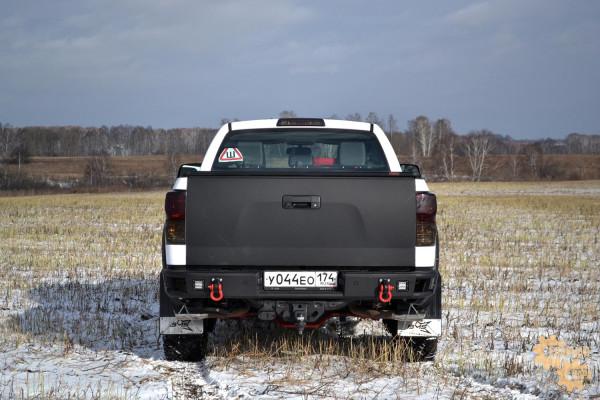 Бампер силовой задний BMS ALFA для Тойота Тундра 2007-2013