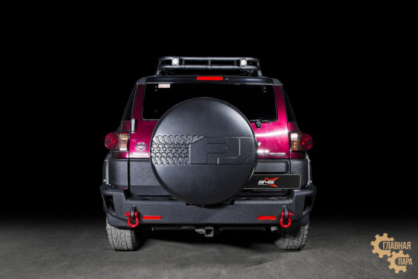 Бампер силовой задний BMS ALFA для Тойота FJ Cruiser