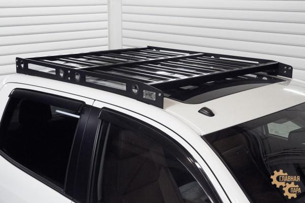 Багажник алюминиевый на крышу Toyota Tundra 2007+ (Сrewmax) профиль