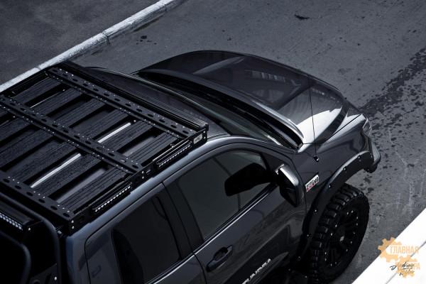 Багажник алюминиевый на крышу Toyota Tundra 2007+ (Doublecab) профиль