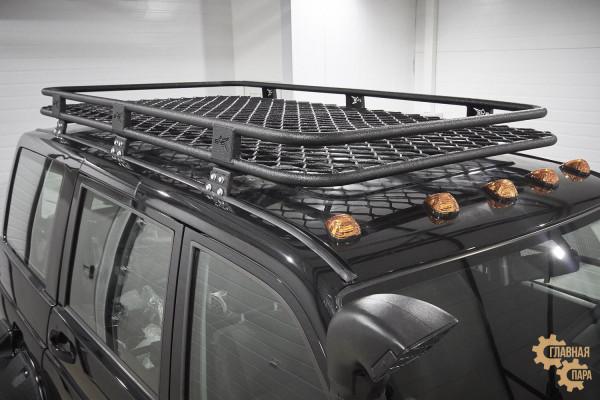 Багажник алюминиевый на крышу 1202х2132х130 сетка