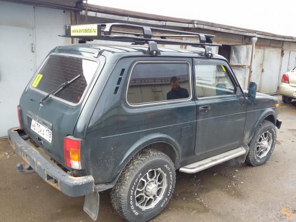 Багажник экспедиционный ЕВРОДЕТАЛЬ для ВАЗ-2121 Нива с сеткой