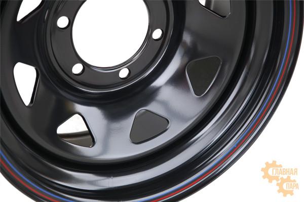 Диск усиленный стальной черный 6x139,7 8xR16 d110 ET-10 (треугольник мелкий)