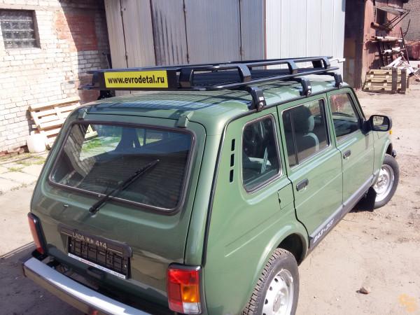 Багажник экспедиционный ЕВРОДЕТАЛЬ для ВАЗ 2131 Нива (5 дверей) с сеткой