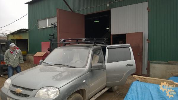 Багажник экспедиционный ЕВРОДЕТАЛЬ для Шевроле Нива с сеткой
