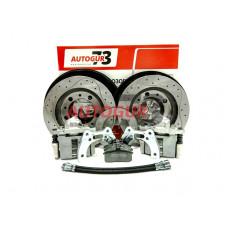 Дисковые тормоза с перфорированными дисками УАЗ задний мост Тимкен/Спайсер (суп. ВАЗ 2112)