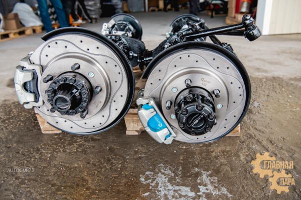 Дисковые тормоза с перфорированными дисками УАЗ военный задний мост (суп. ГАЗ)