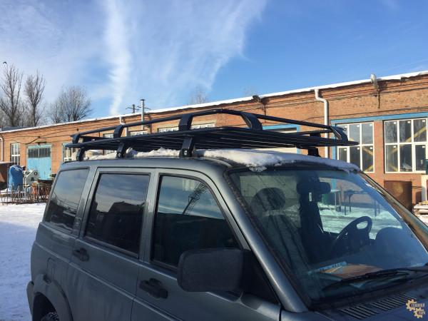 Багажник экспедиционный ЕВРОДЕТАЛЬ на УАЗ 3163 Патриот с сеткой